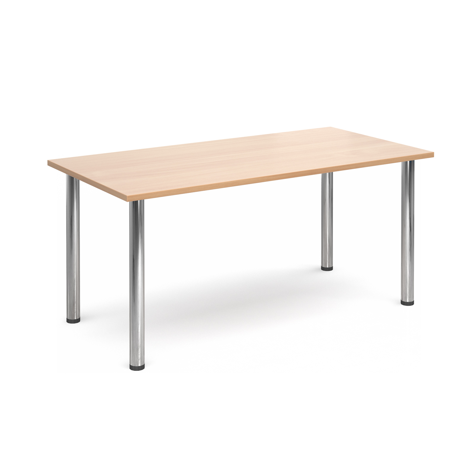 1600 Flexi table Chrome radial Legs-Beech