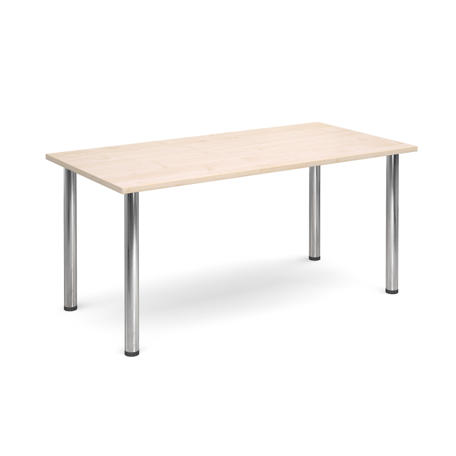1600 Flexi table Chrome radial Legs-Maple