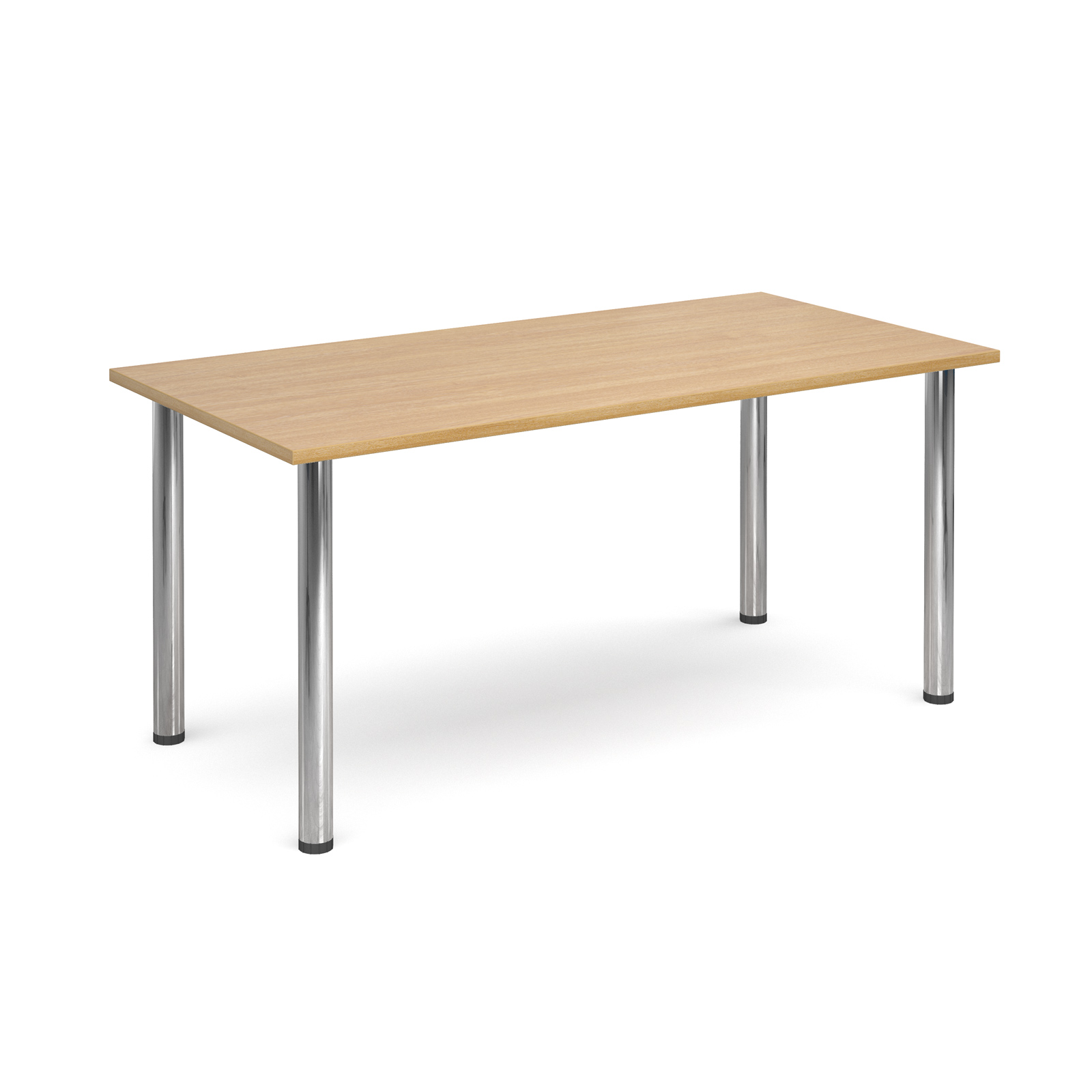 1600 Flexi table Chrome radial Legs-Oak