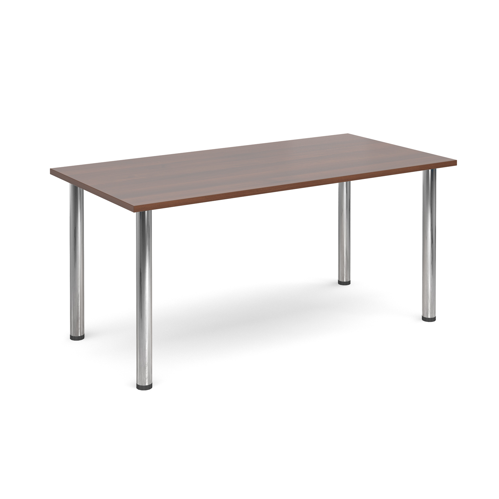 1600 Flexi table Chrome radial Legs-Walnut
