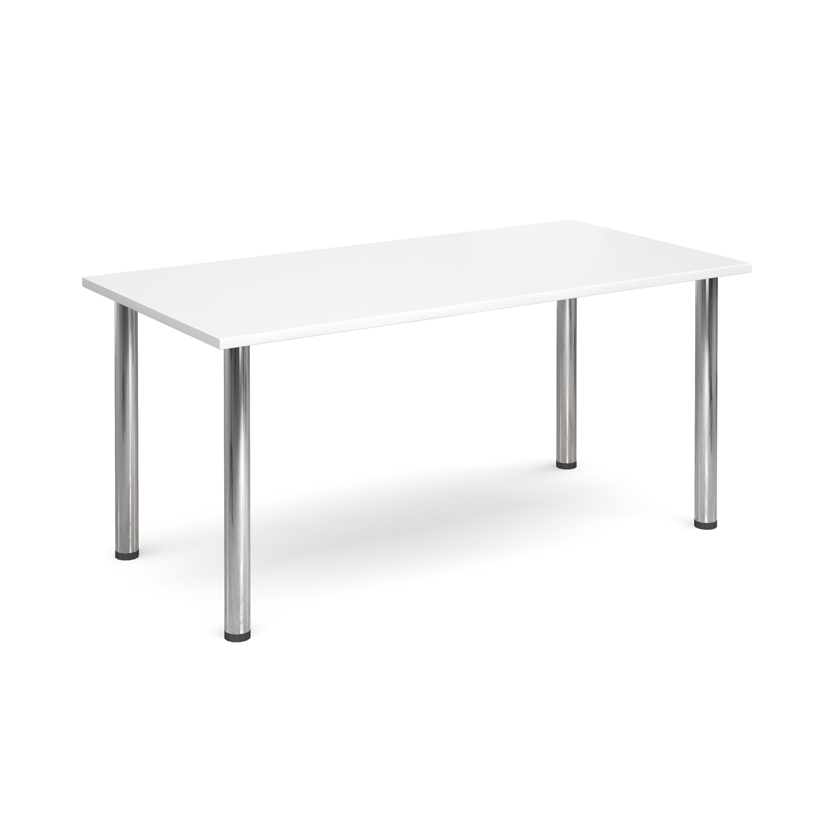 1600 Flexi table Chrome radial Legs-White