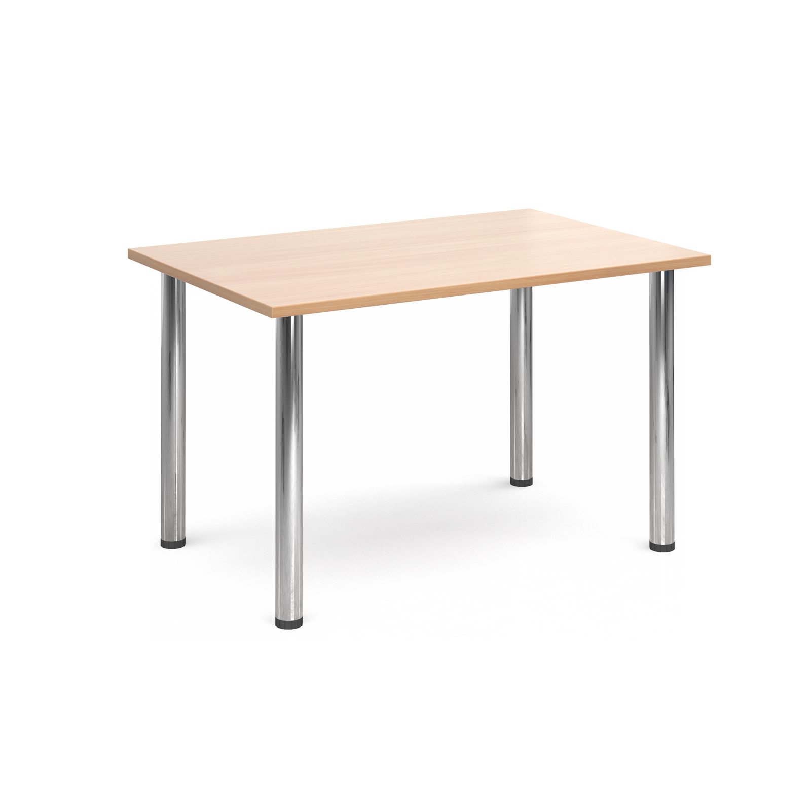1300 Flexi table Chrome radial Legs-Beech