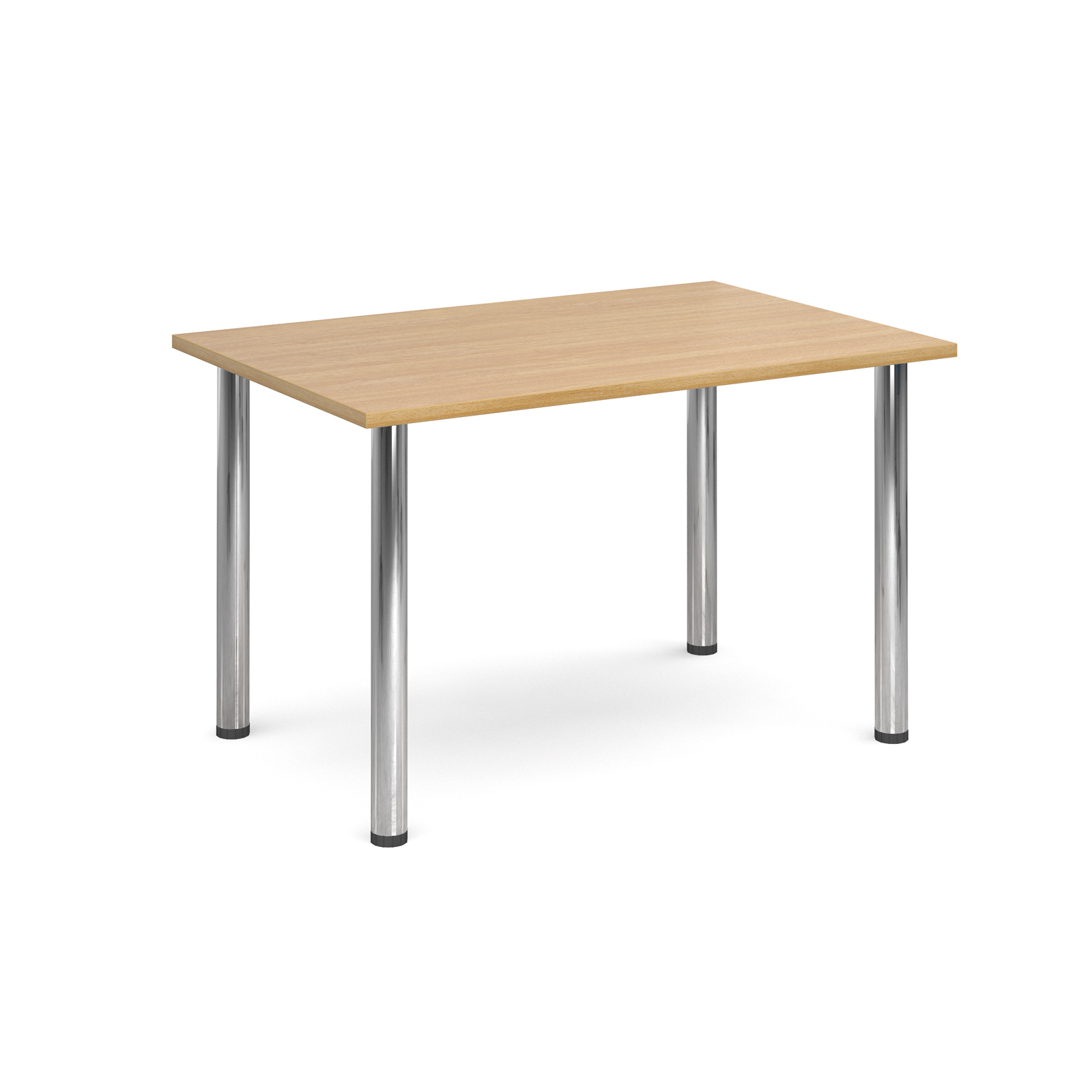 1300 Flexi table Chrome radial Legs-Oak