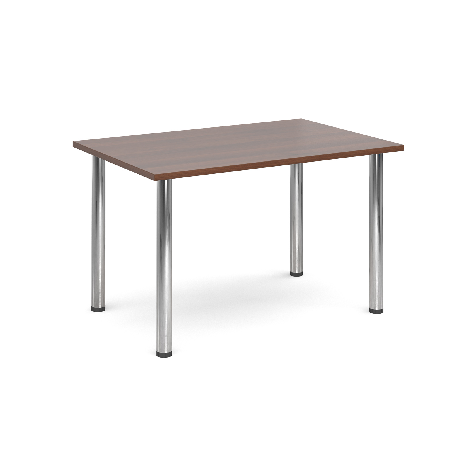 1300 Flexi table Chrome radial Legs-Walnut