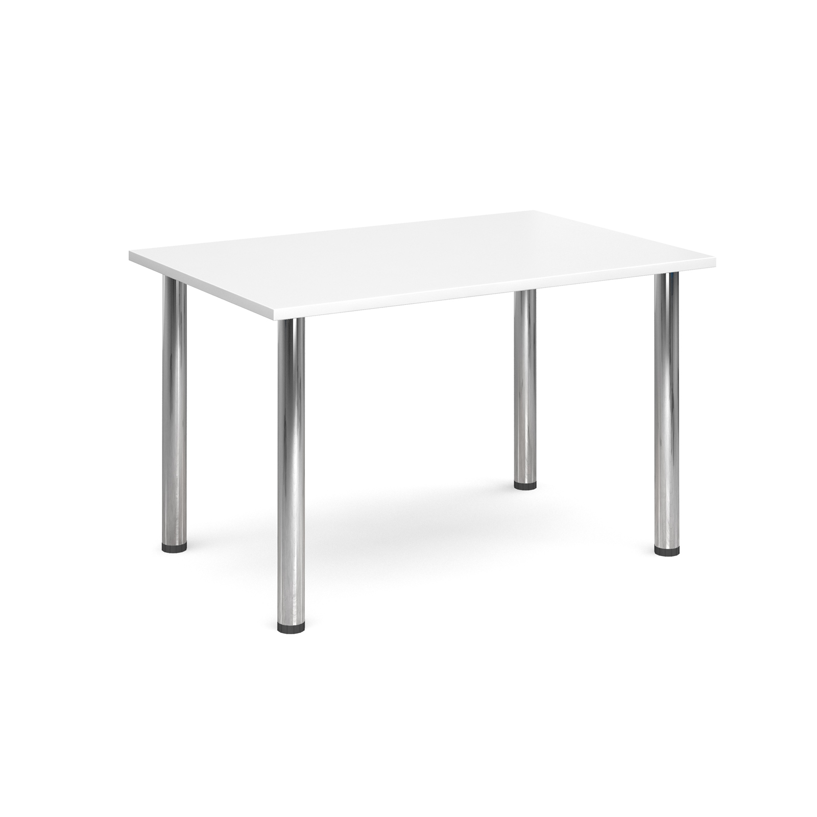 1300 Flexi table Chrome radial Legs-White