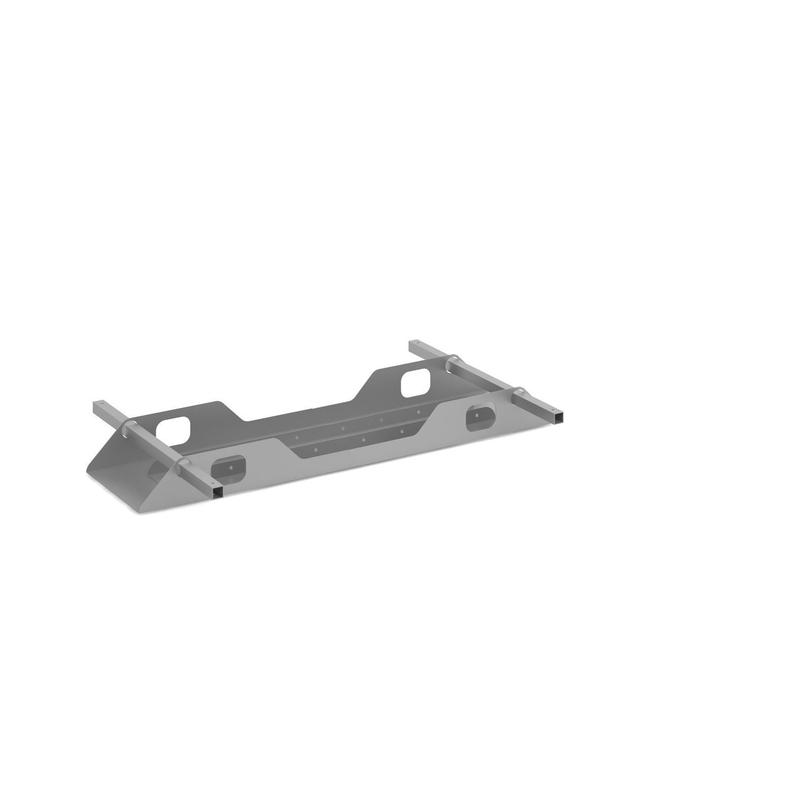 Connex Double Cable Tray 1200mm in silver