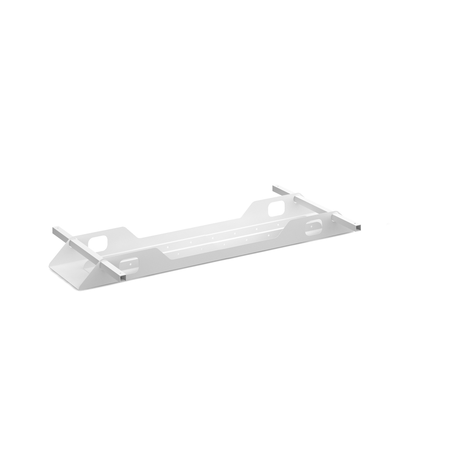 Connex Double Cable Tray 1400mm in white