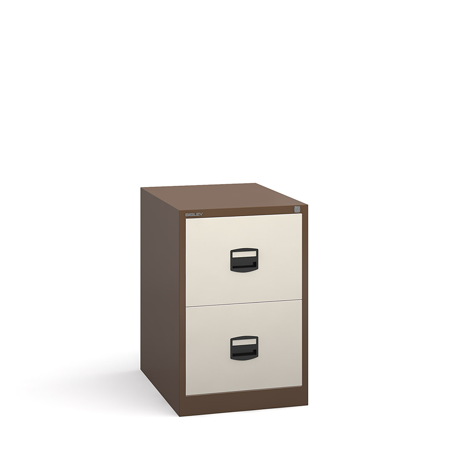 2 drawer contract filing cabinet in Coffee Cream