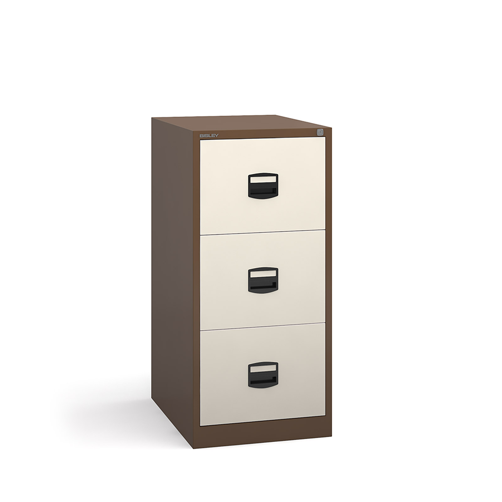3 drawer contract filing cabinet in Coffee Cream