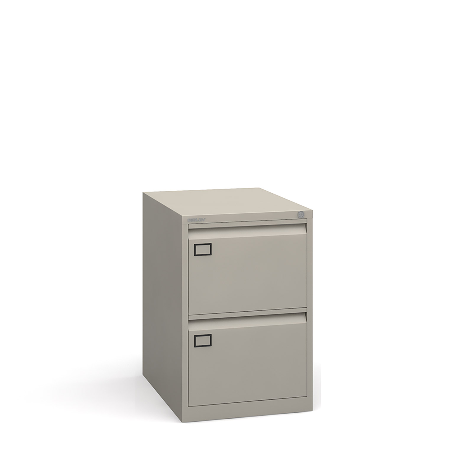 2 drawer executive filing cabinet Grey