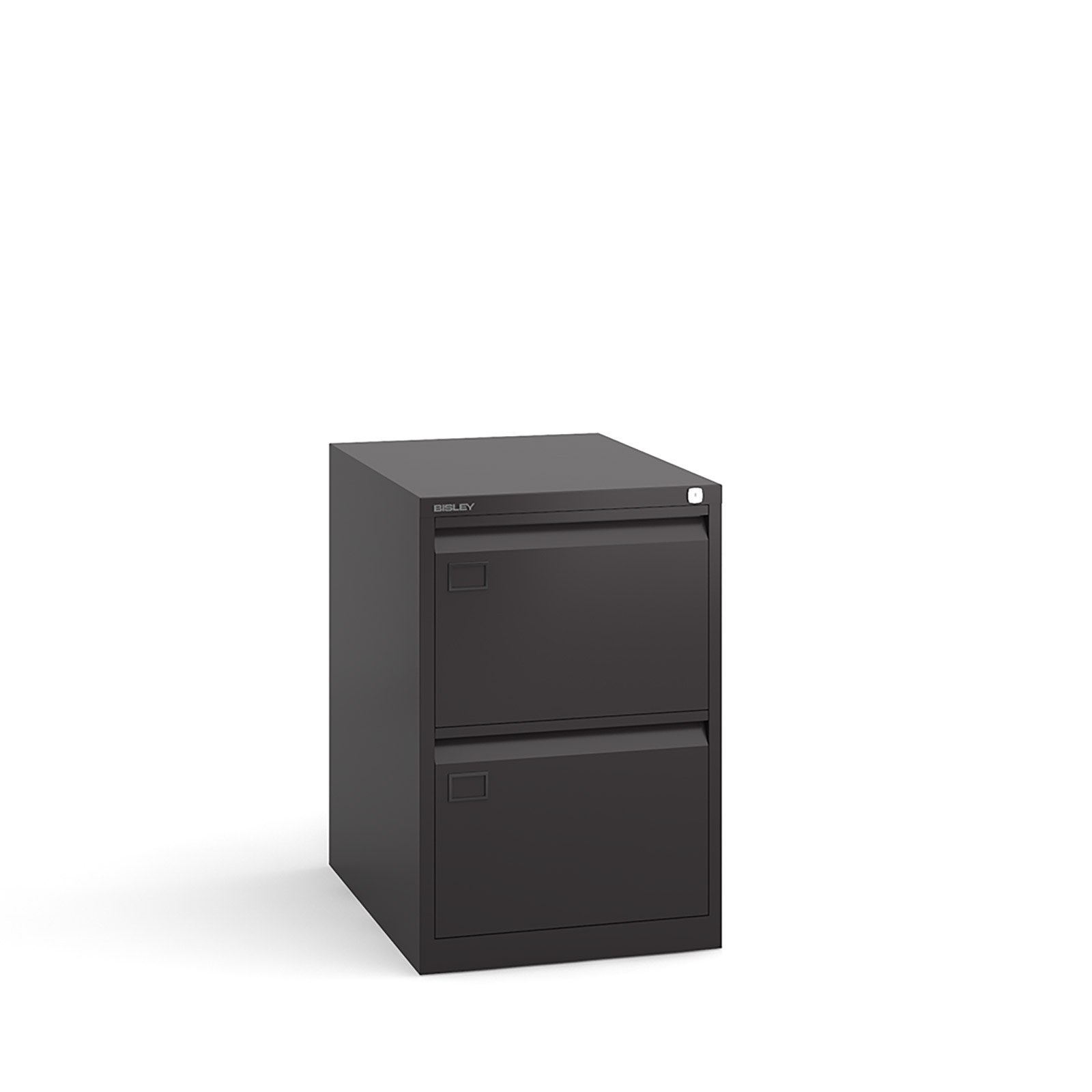 2 drawer executive filing cabinet Black