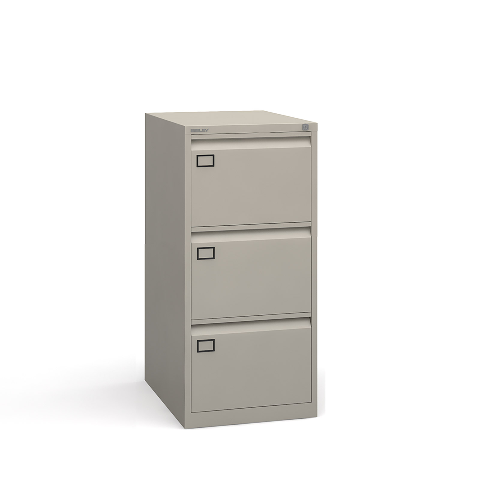 3 drawer executive filing cabinet Grey