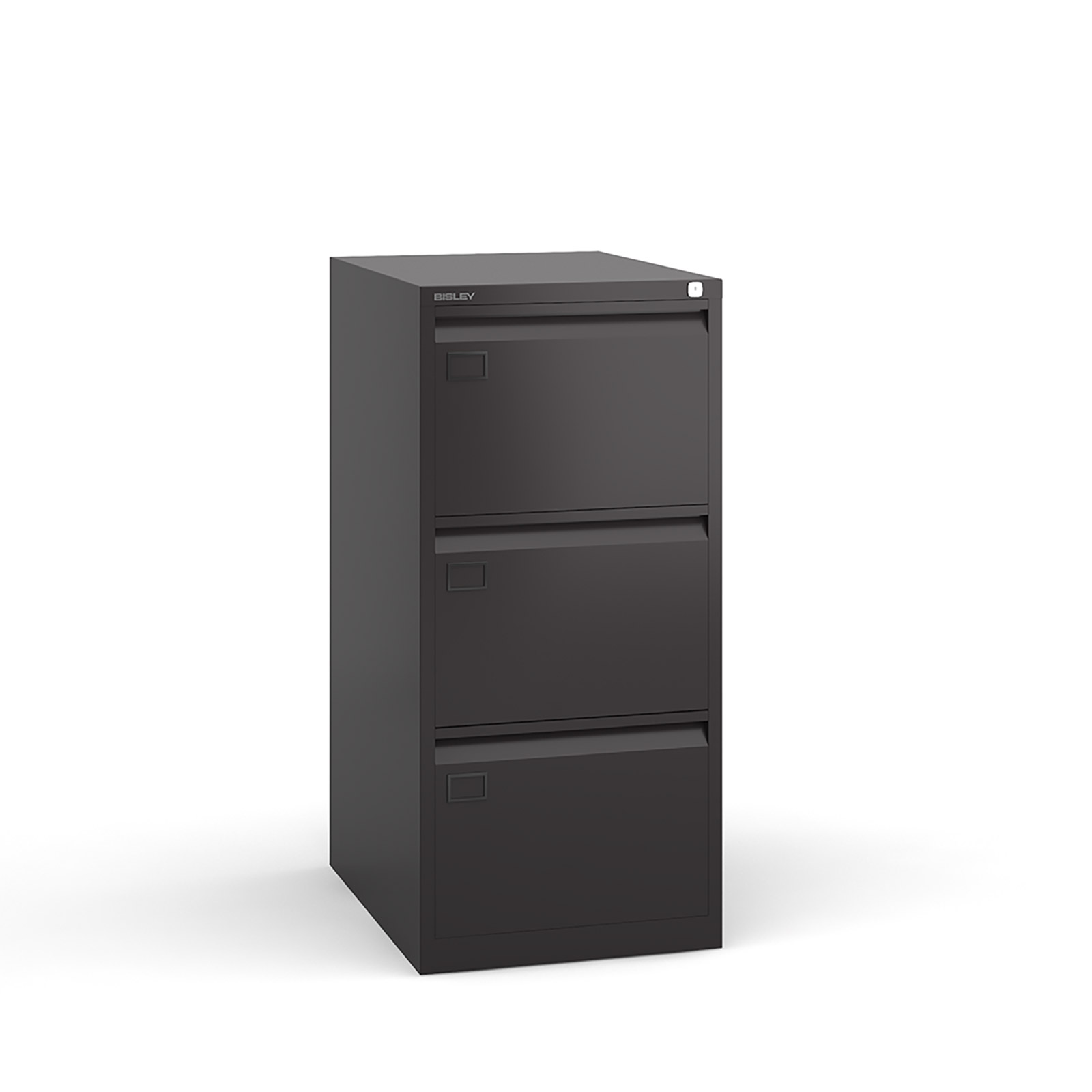 3 drawer executive filing cabinet Black