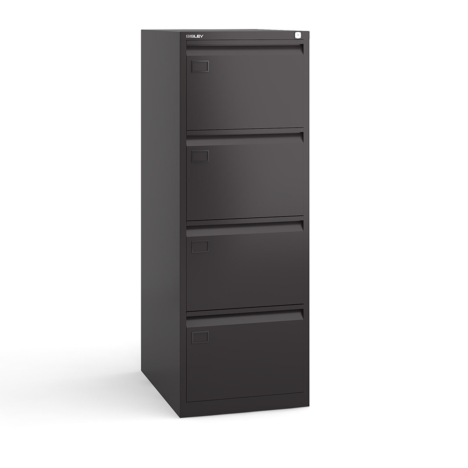 4 drawer executive filing cabinet Black