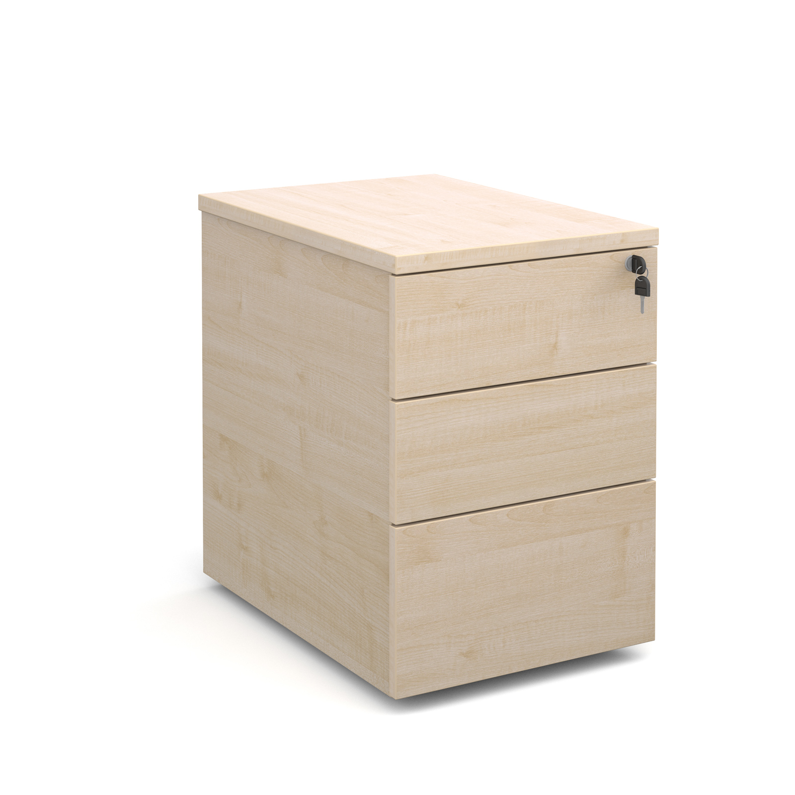 3 Drawer Mobile Pedestal in Maple