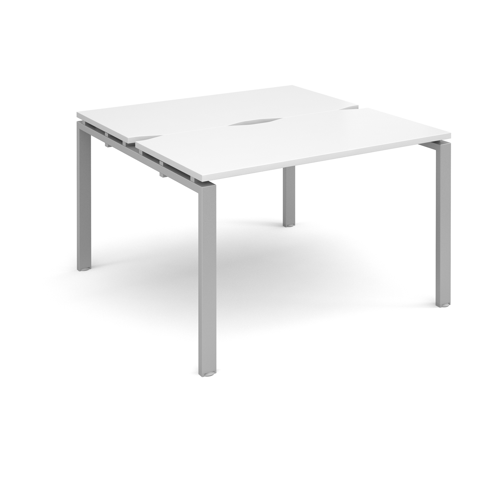 Adapt II 1200 x 1200 x 725mm Back to Back Desk - White / Silver Leg