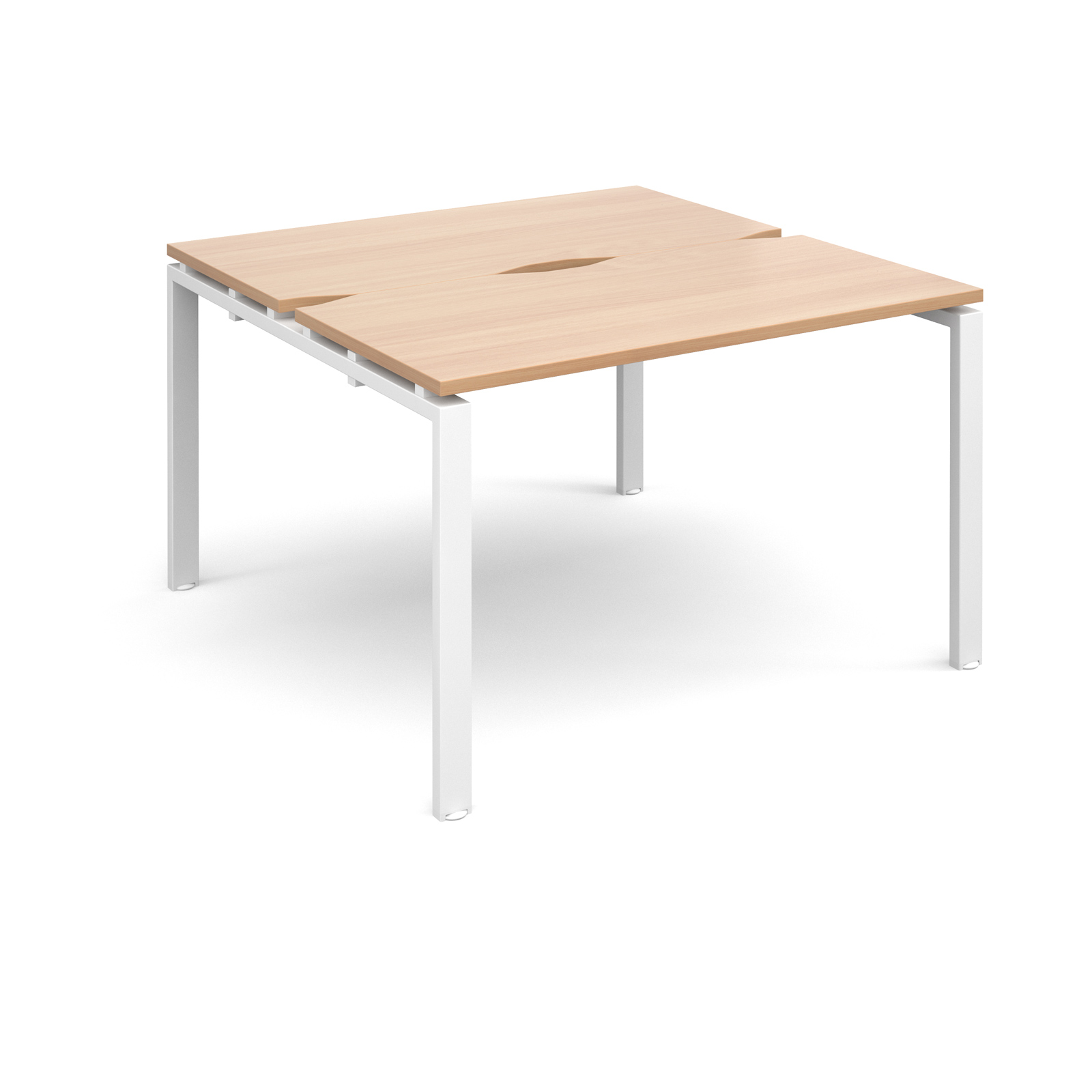 Adapt II 1200 x 1200 x 725mm Back to Back Desk - Beech / White Leg