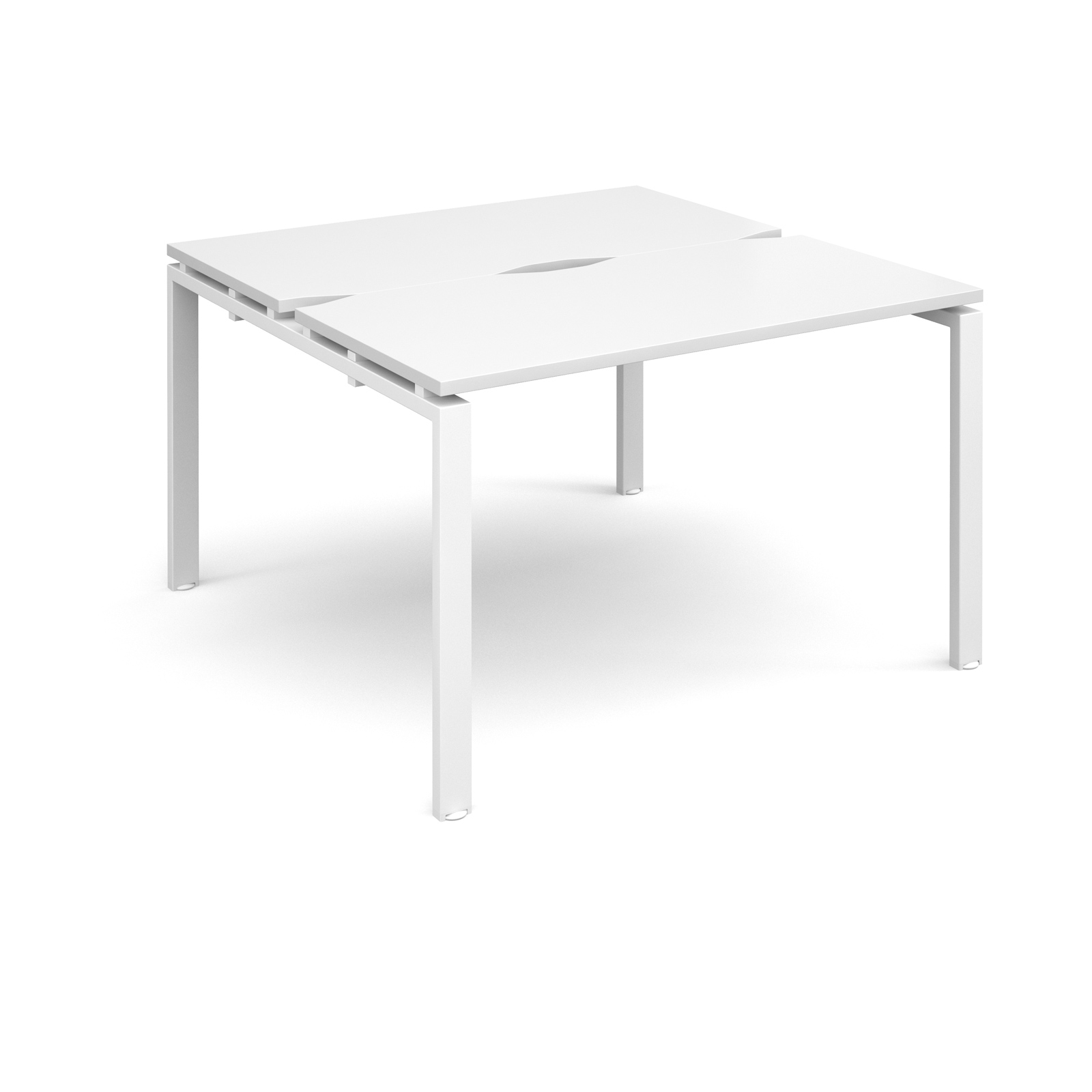 Adapt II 1200 x 1200 x 725mm Back to Back Desk - White / White Leg