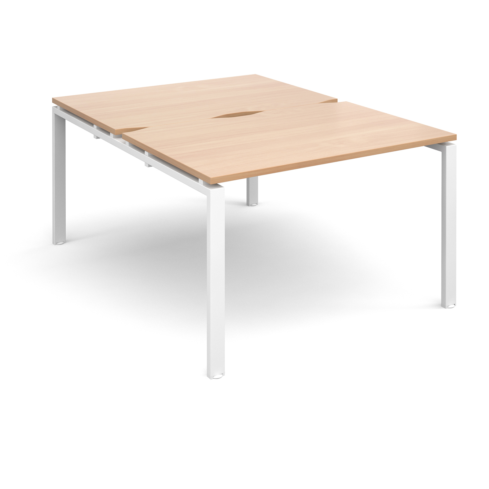 Adapt II 1200 x 1600 x 725mm Back to Back Desk - Beech / White Leg