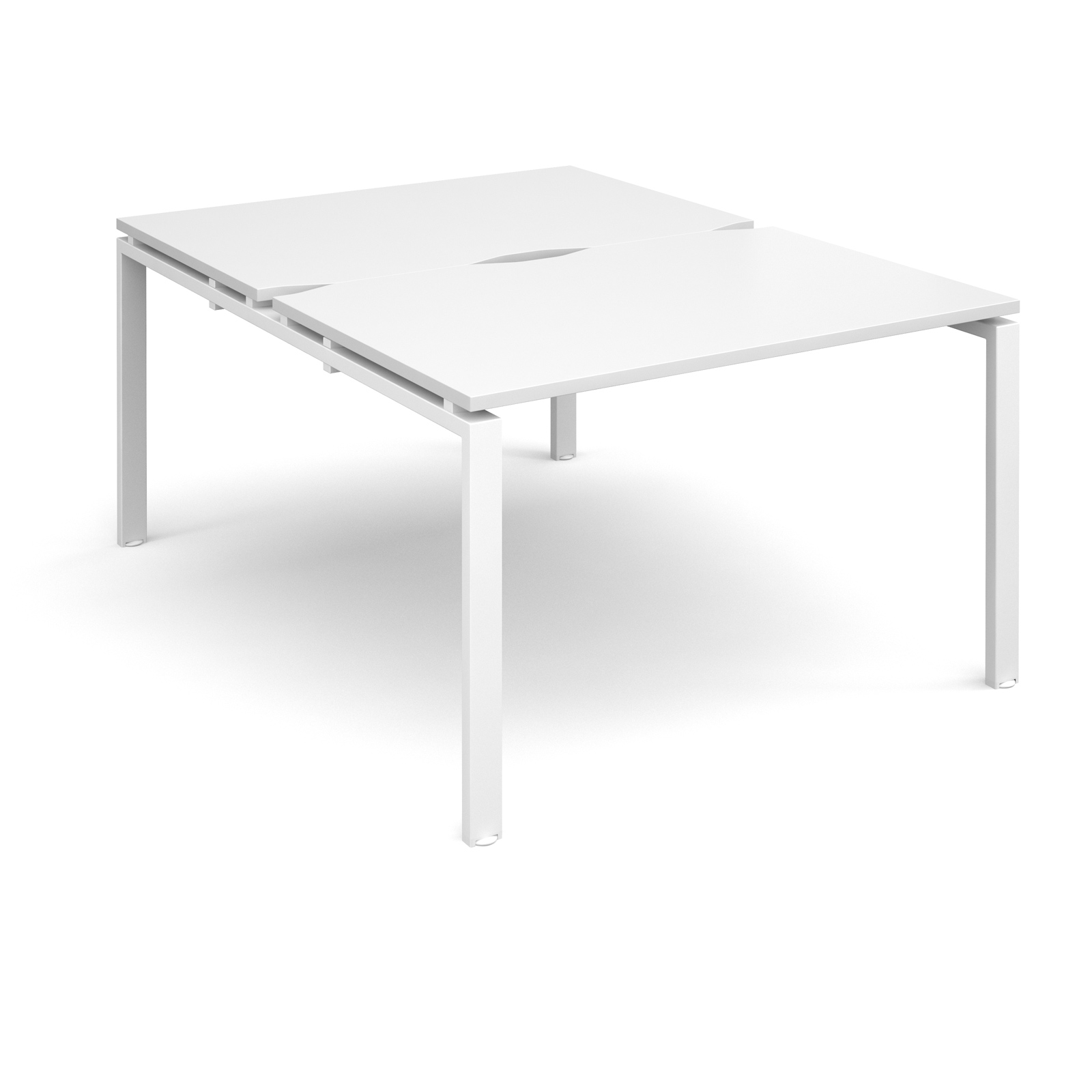 Adapt II 1200 x 1600 x 725mm Back to Back Desk - White / White Leg