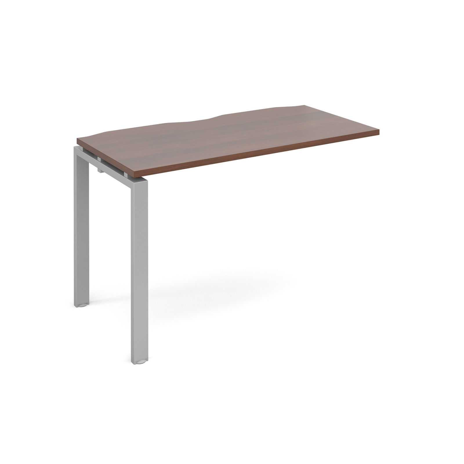 Adapt II 1200 x 600 x 725mm Single Add On Bay - Walnut / Silver Leg