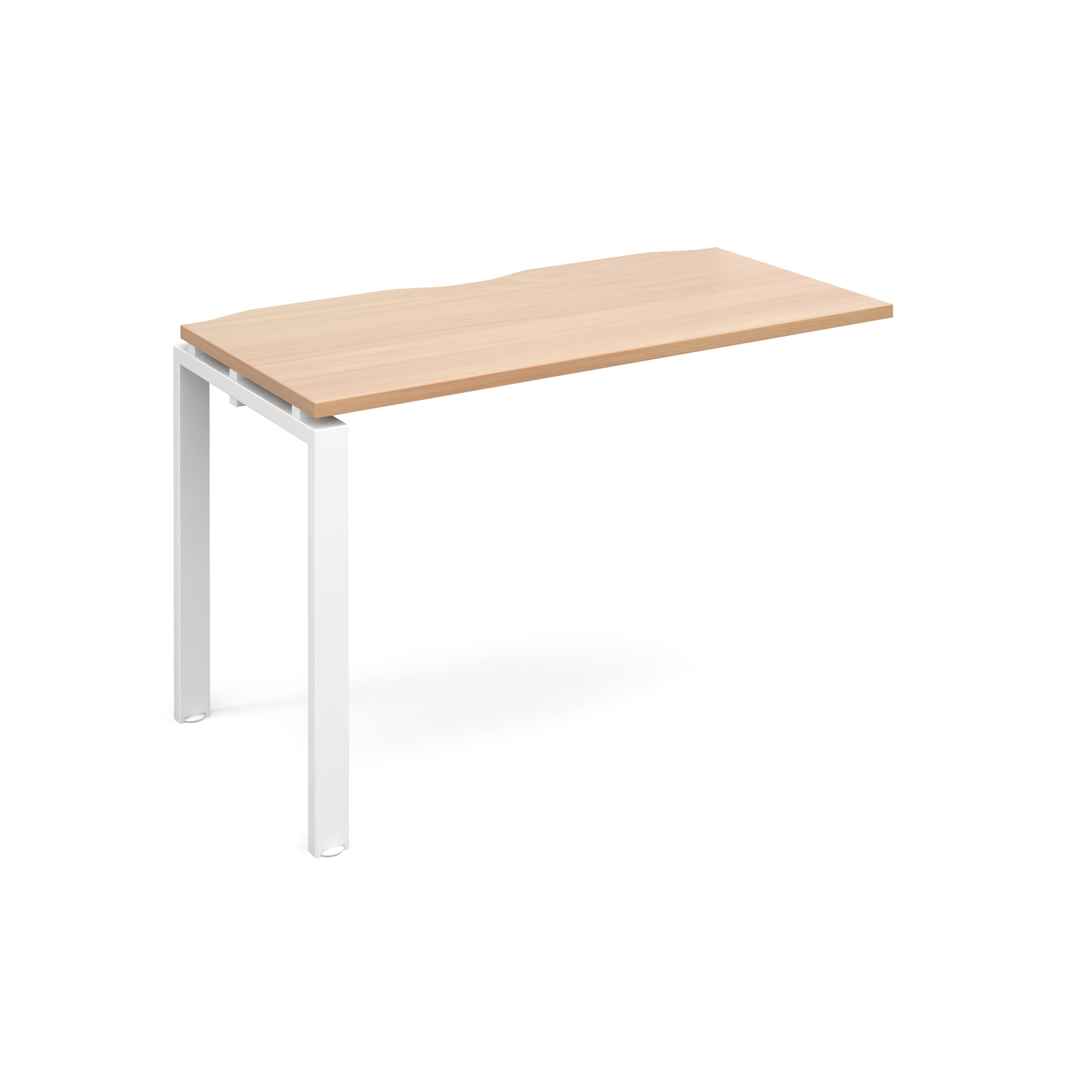 Adapt II 1200 x 600 x 725mm Single Add On Bay - Beech / White Leg