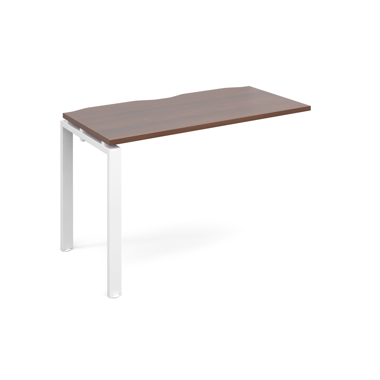 Adapt II 1200 x 600 x 725mm Single Add On Bay - Walnut / White Leg