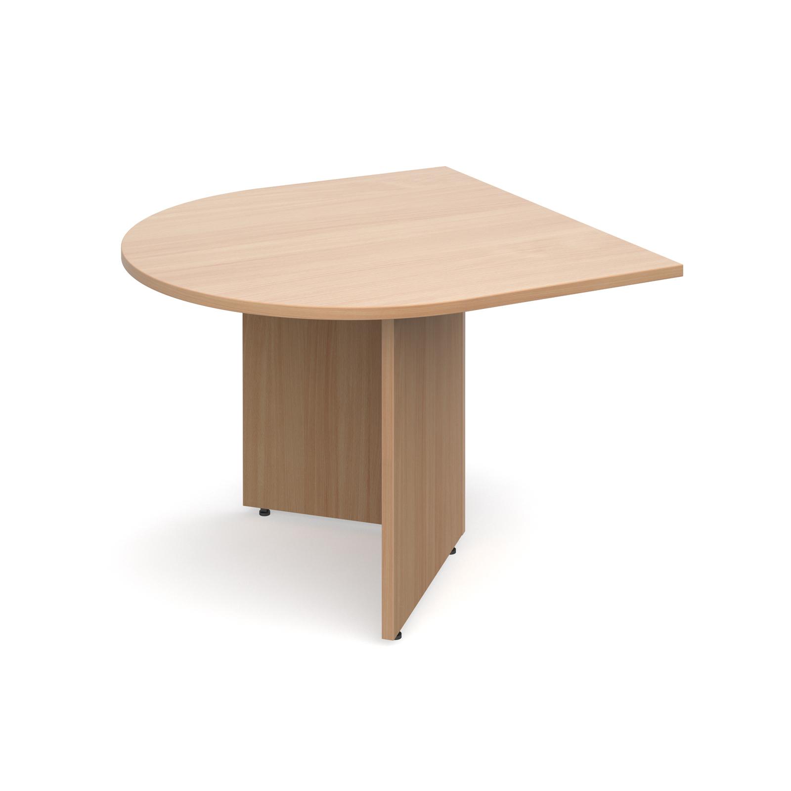 Arrow head leg radial extension table