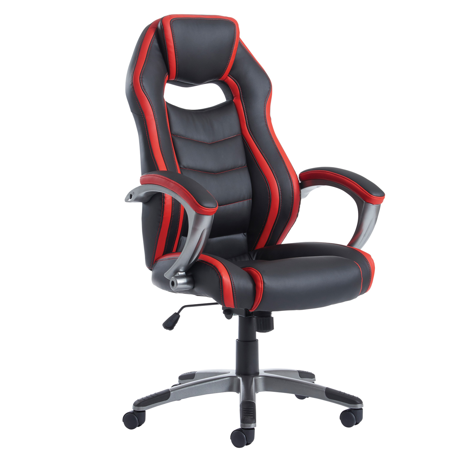 Jensen executive chair - black and red