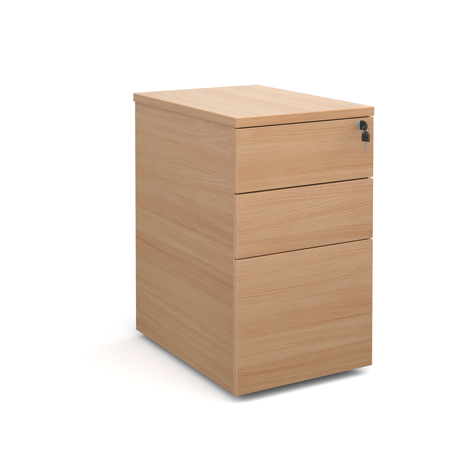 600mm Deep Desk High Pedestal in beech