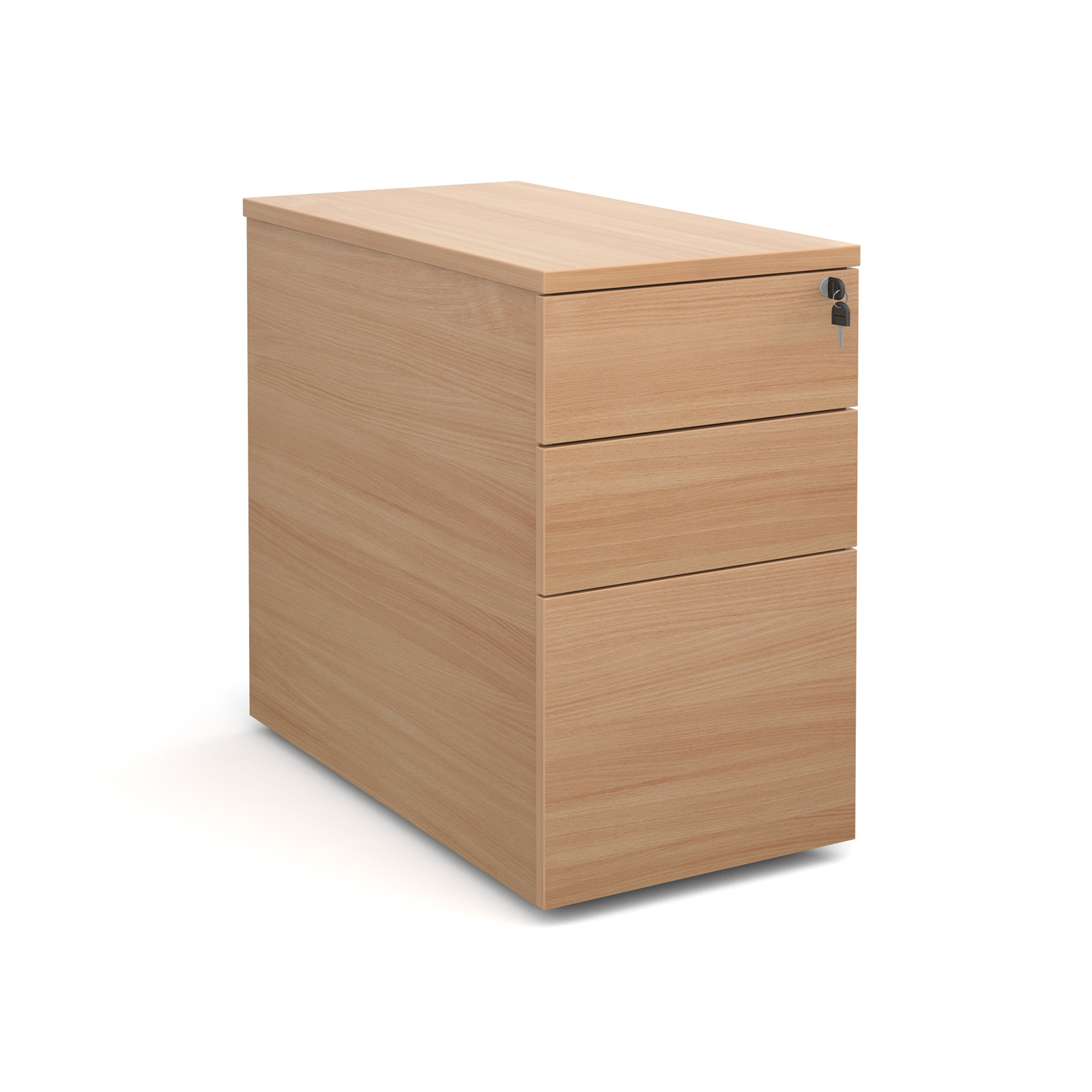 800mm Deep Desk High Pedestal in beech