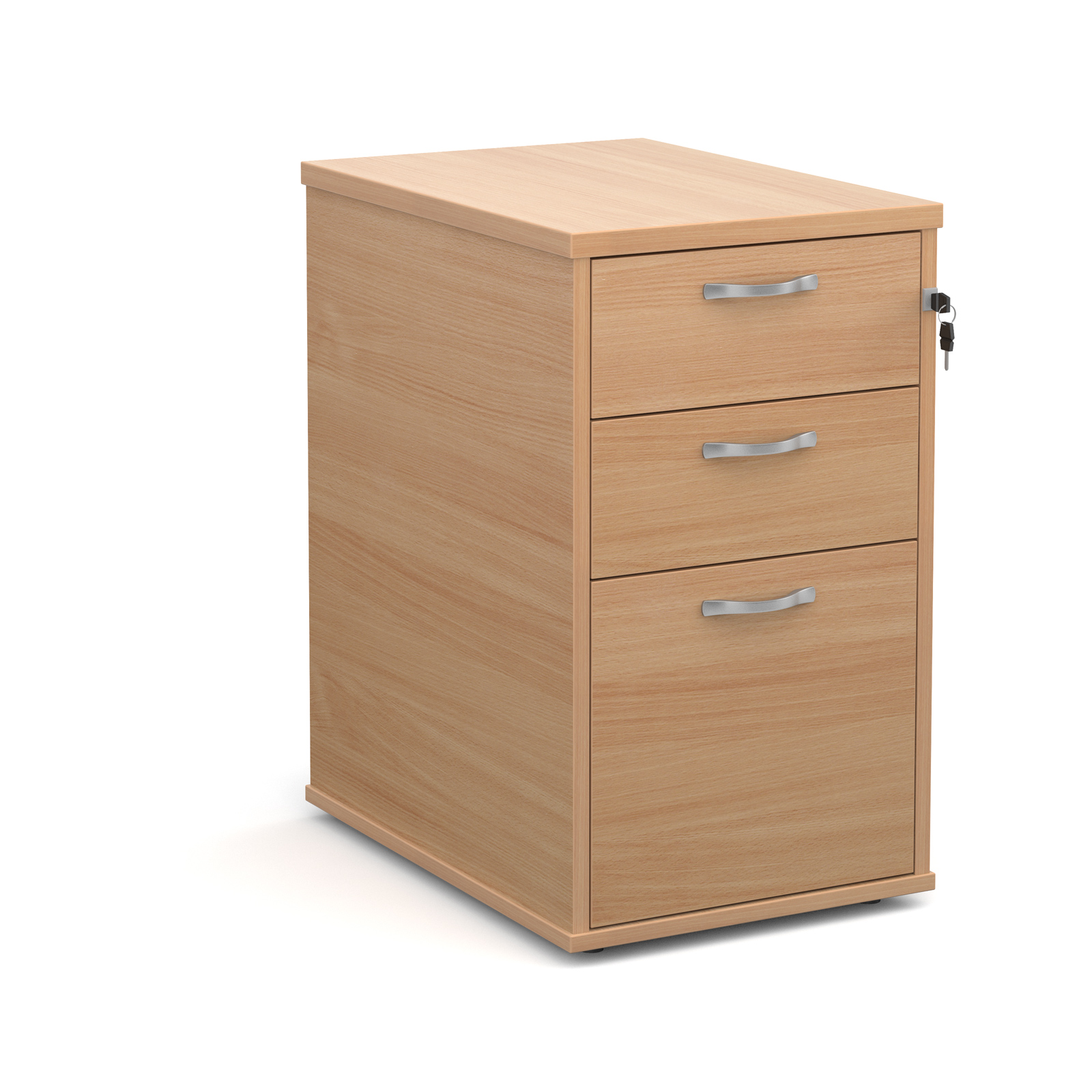 600mm Desk High 3 Drawer Pedestal in beech
