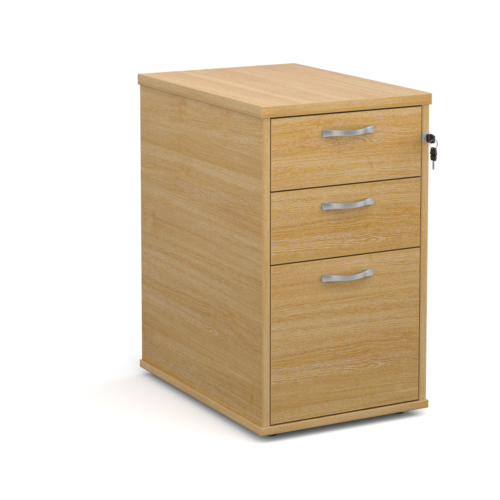 600mm Desk High 3 Drawer Pedestal in oak