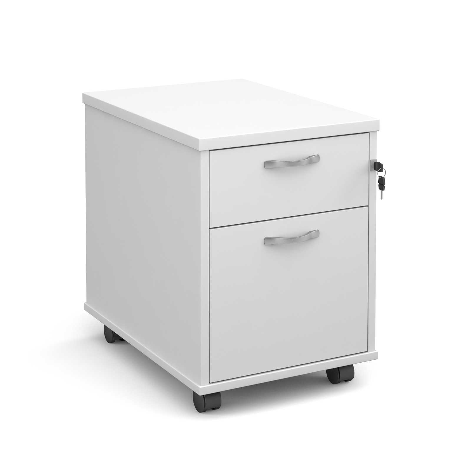 2 Drawer Mobile Pedestal in white