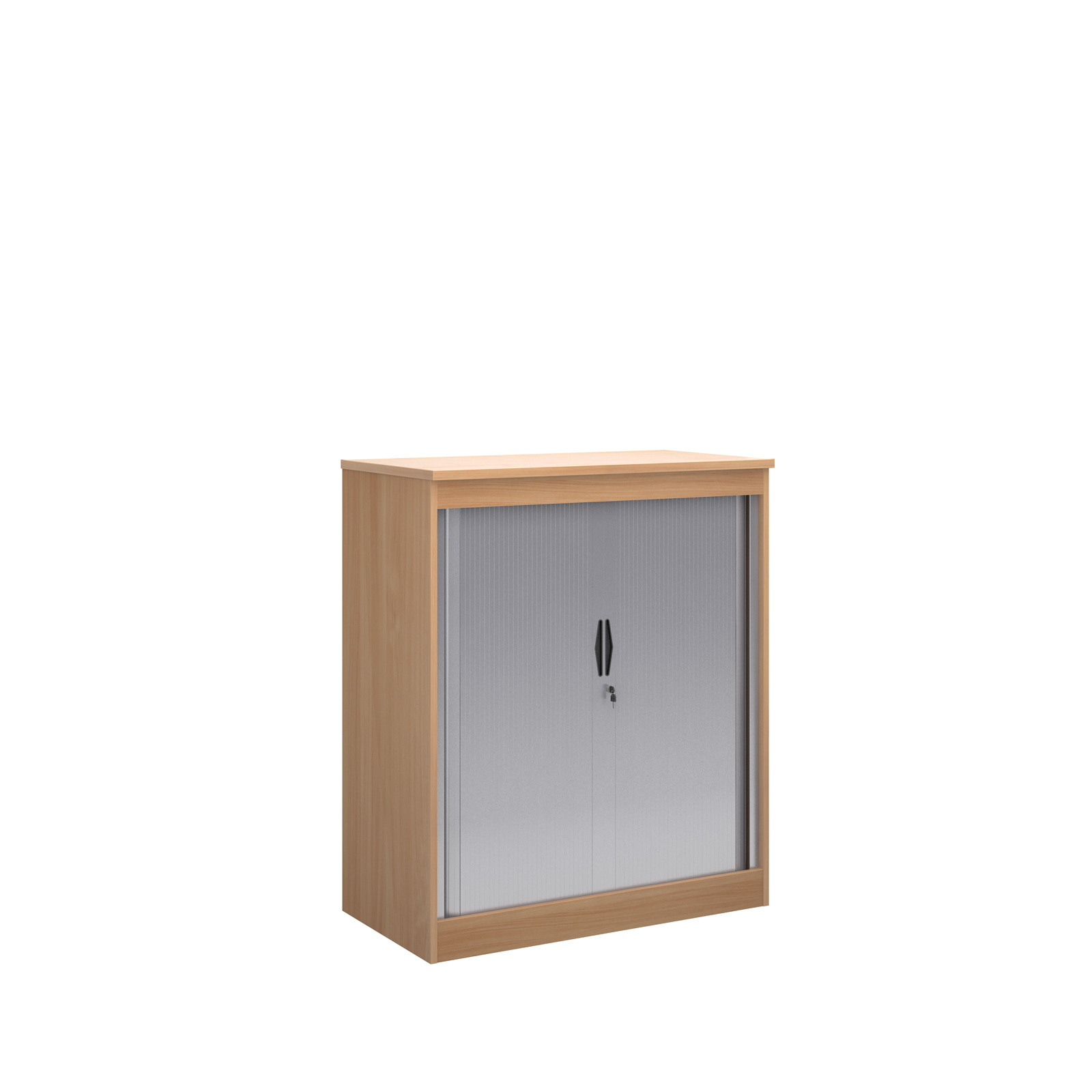 1200mm high system horizontal tambour door cupboard in beech