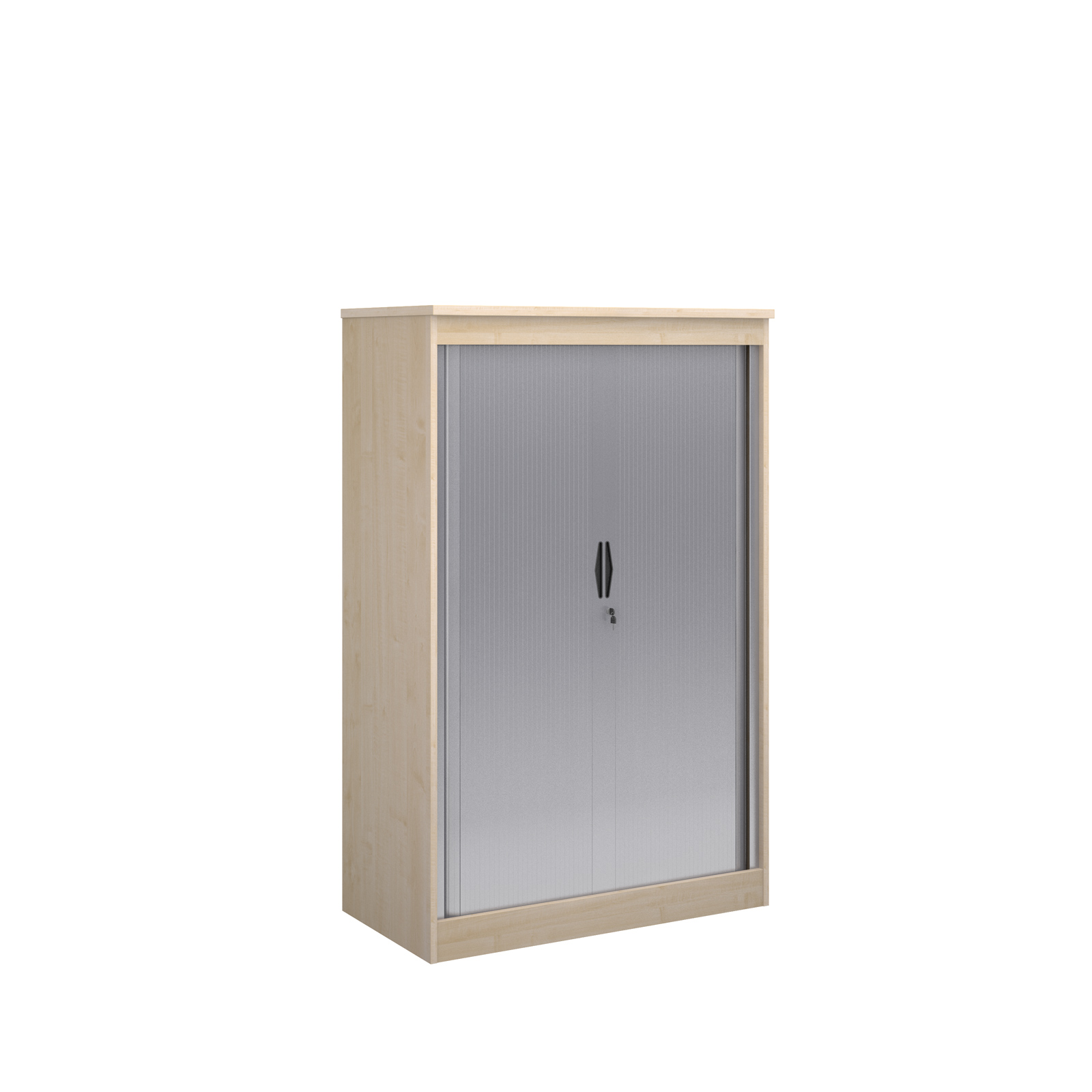 1600mm high system horizontal tambour door cupboard in maple