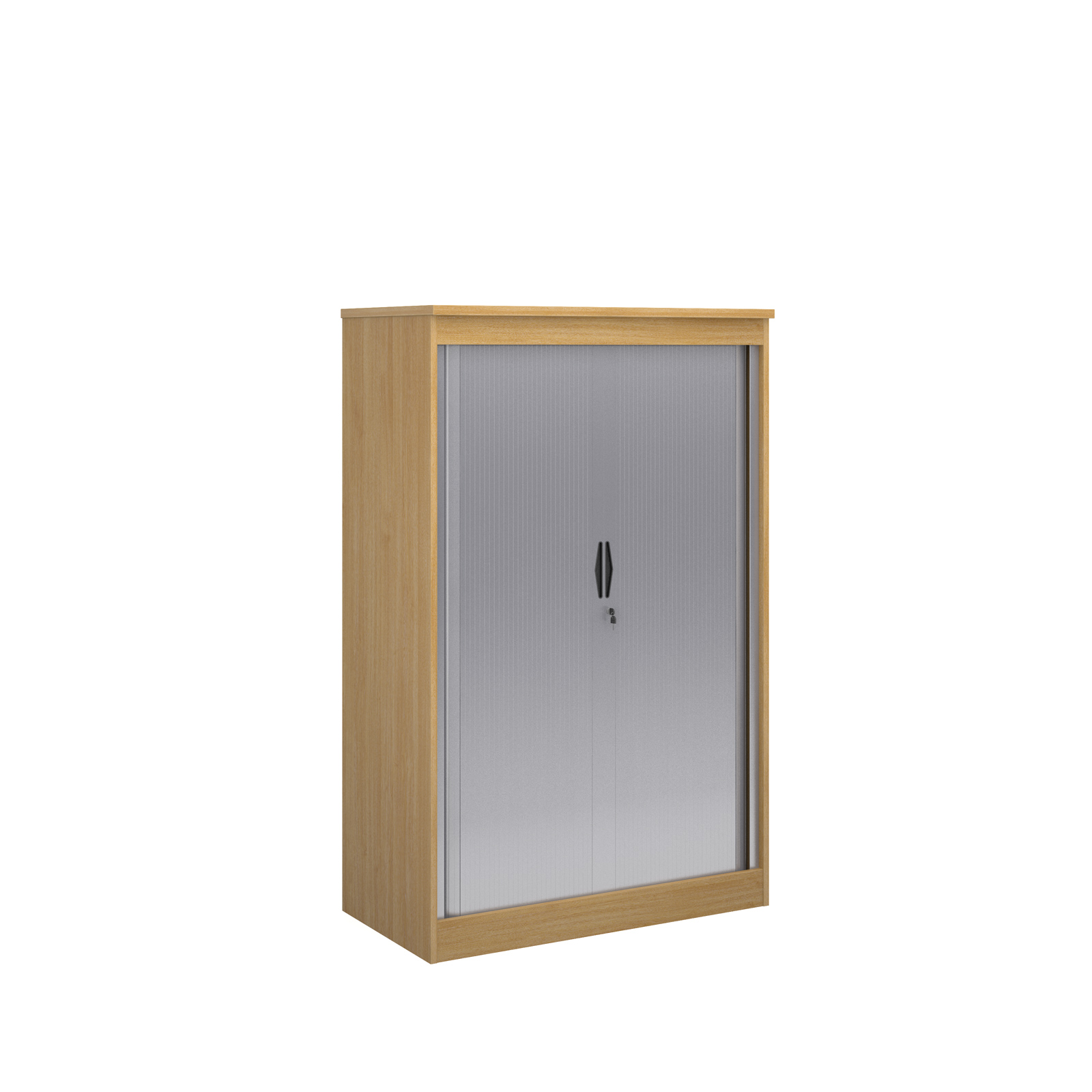 1600mm high system horizontal tambour door cupboard in oak