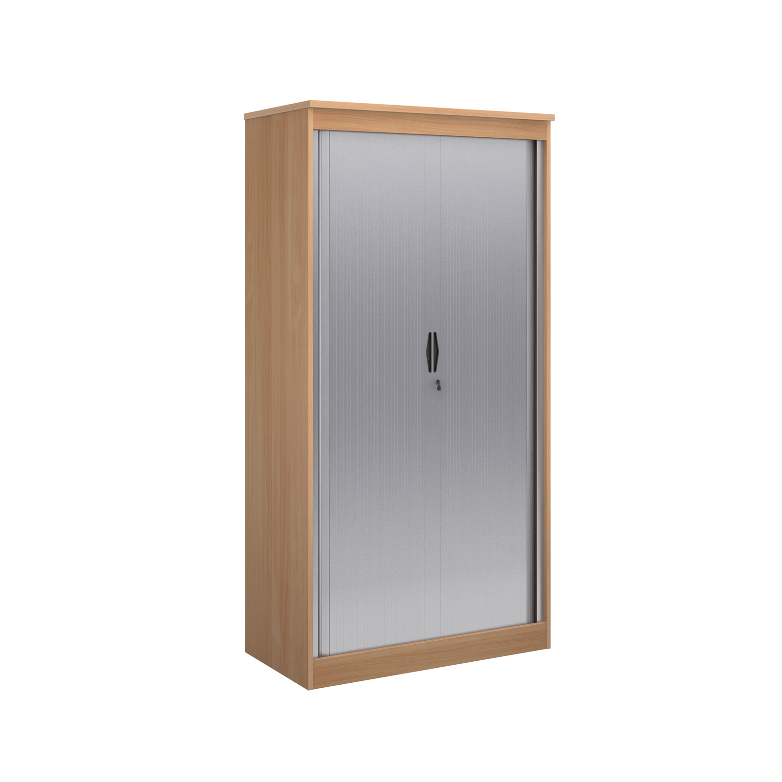 2000mm high system horizontal tambour door cupboard in beech