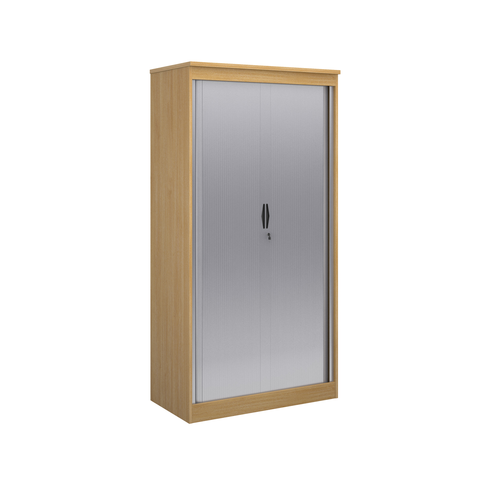 2000mm high system horizontal tambour door cupboard in oak