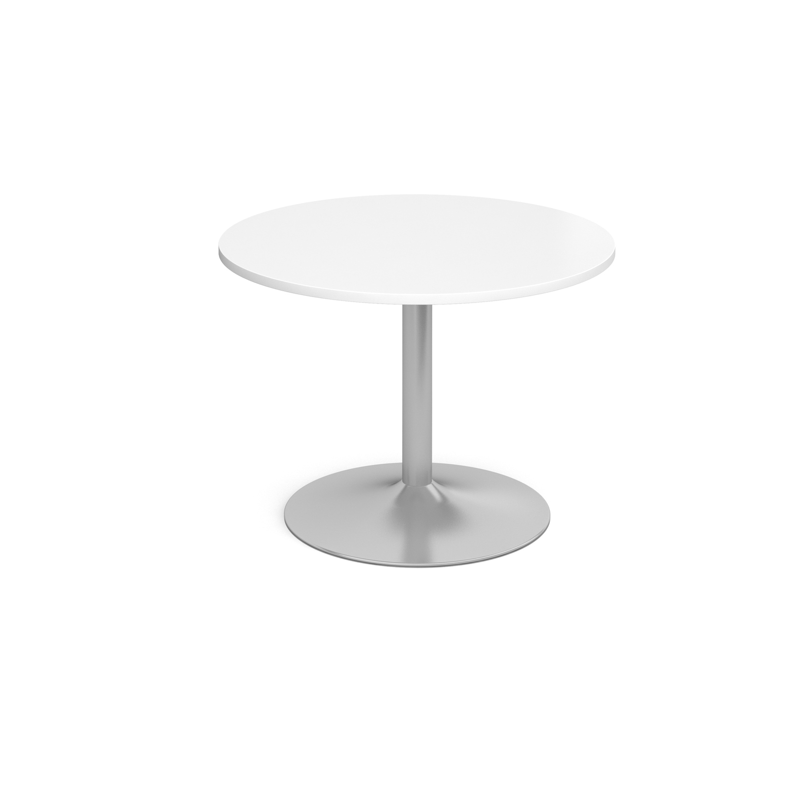 1000 Dia Circular Trumpet Base Boardroom Table 25mm Top - White
