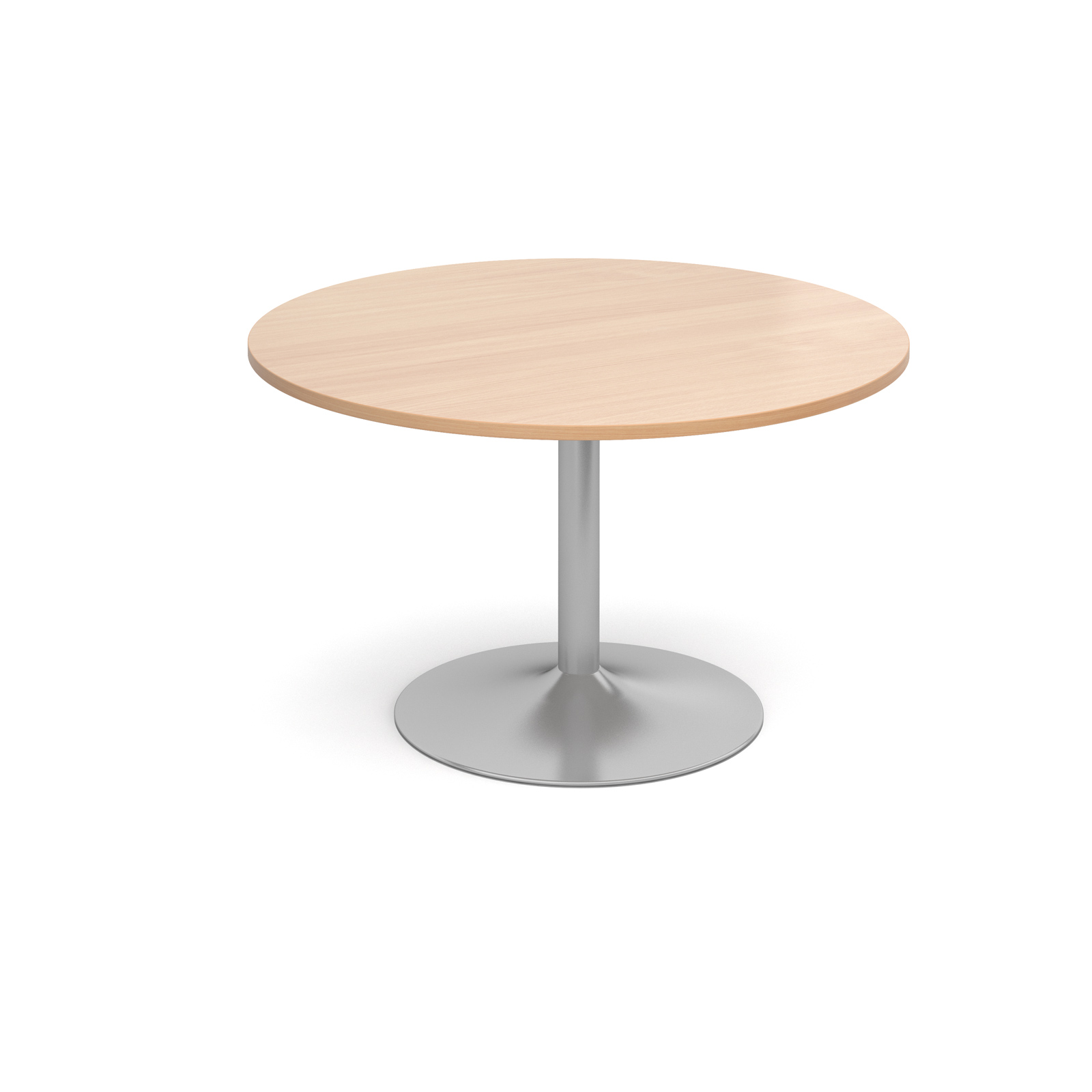 1200 Dia Circular Trumpet Base Boardroom Table 25mm Top -  Beech