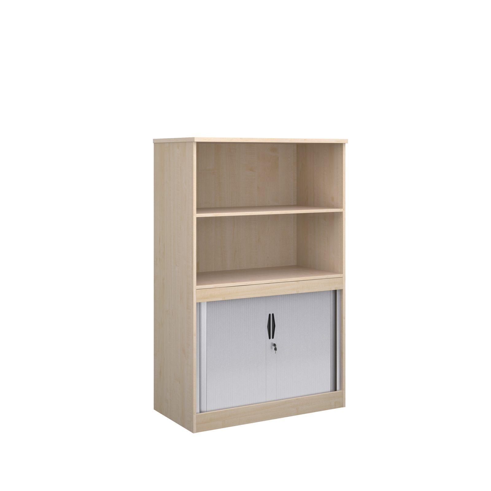 1600 System Storage half tambour, half cupboard in maple