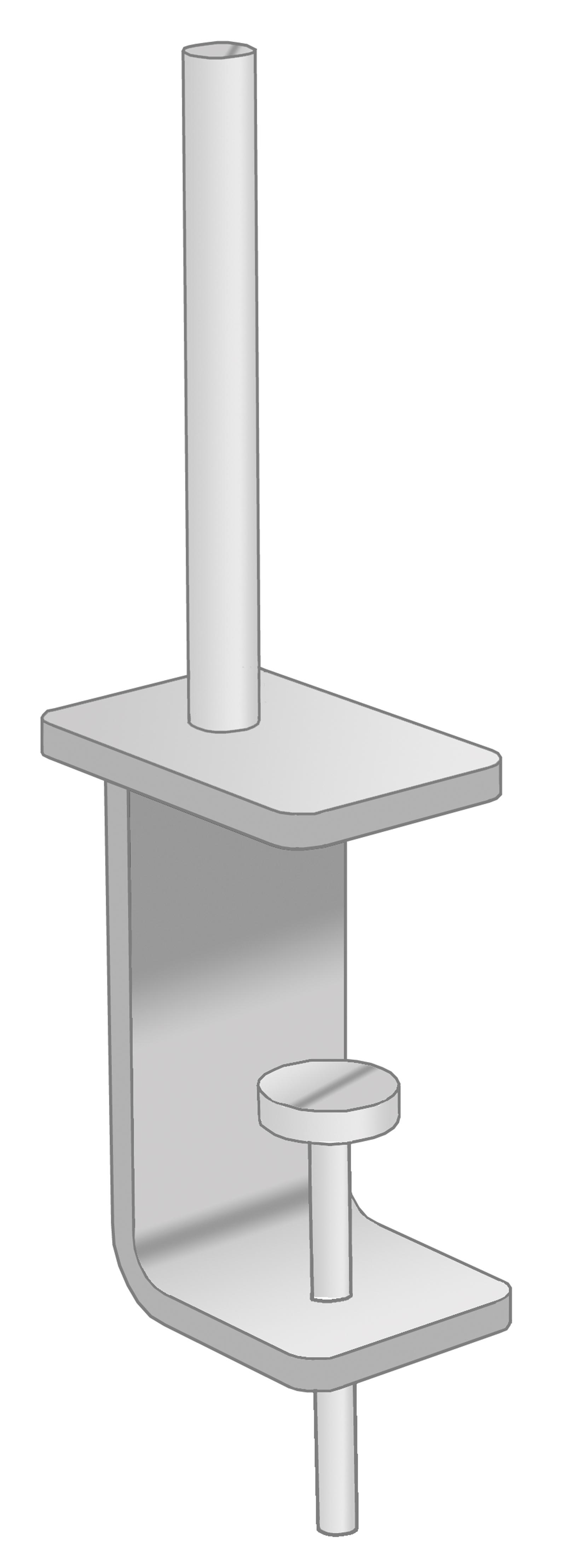 Universal desktop screen brackets (pair)