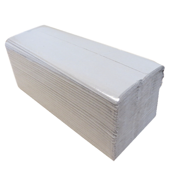 2Work 1-Ply C-Fold Hand Towels Natural (2760 Pack) 2W00878
