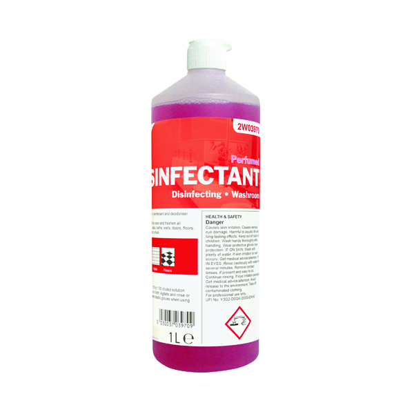 2Work Disinfectant and Washroom Cleaner Perfumed 1 Litre 2W03970