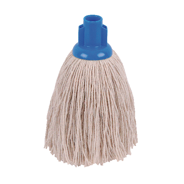 2Work 12oz Twine Rough Socket Mop Blue (10 Pack) PJTB1210I