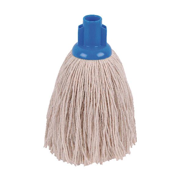 2Work 12oz Twine Rough Socket Mop Blue (10 Pack) PJTB1210I