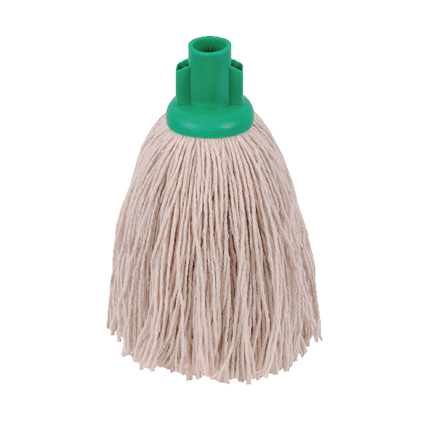 2Work 12oz Twine Rough Socket Mop Green (10 Pack) 101851