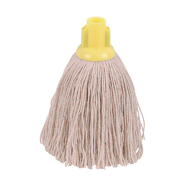 2Work 12oz Twine Rough Socket Mop Yellow (10 Pack) PJTY1210I
