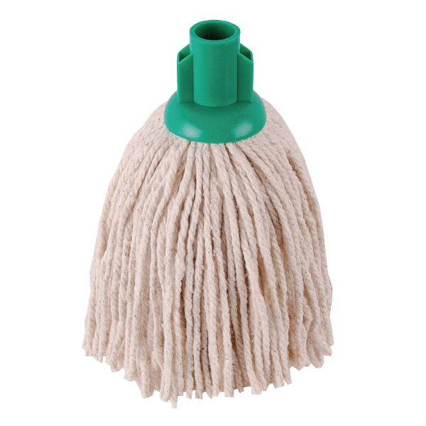 2Work 12oz PY Smooth Socket Mop Green (10 Pack) PJYG1210I